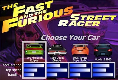 The Fast And The Furious Street Racer